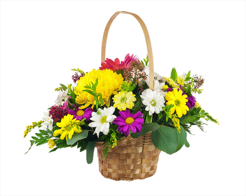 Flower bouquet from multi colored chrysanthemum and other flower stock photography