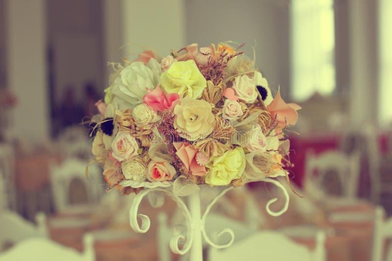 Flower bouquet ornament stock image