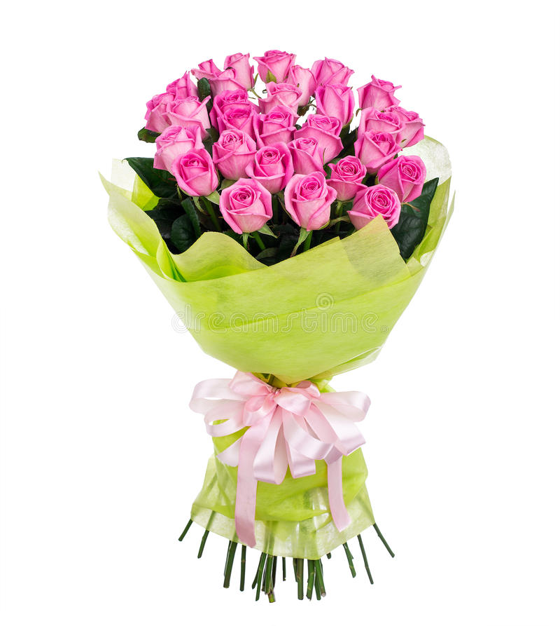 Flower bouquet of pink roses stock photography