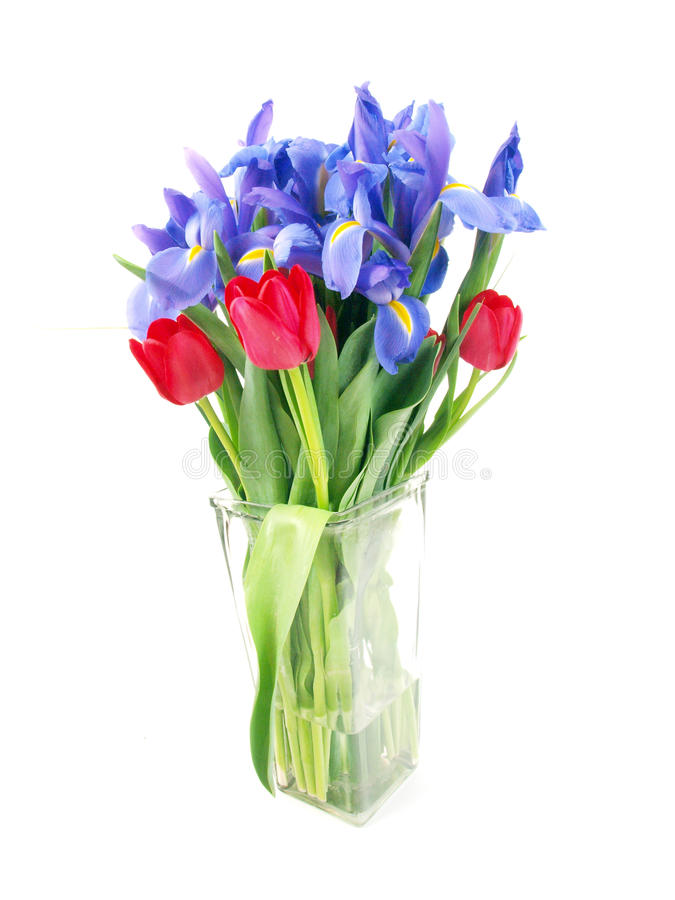 Flower bouquet purple and red royalty free stock image