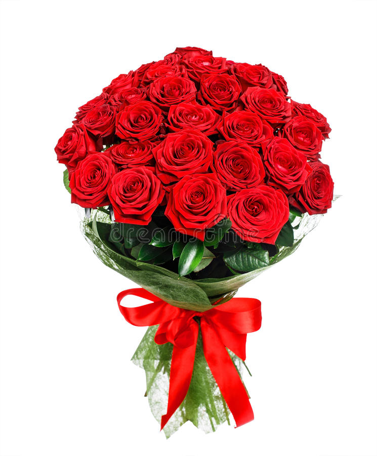 Flower bouquet of red roses stock photography