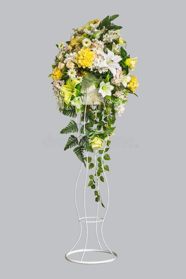 Flower bouquet on stand stock image. Image of inflorescence - 103022967