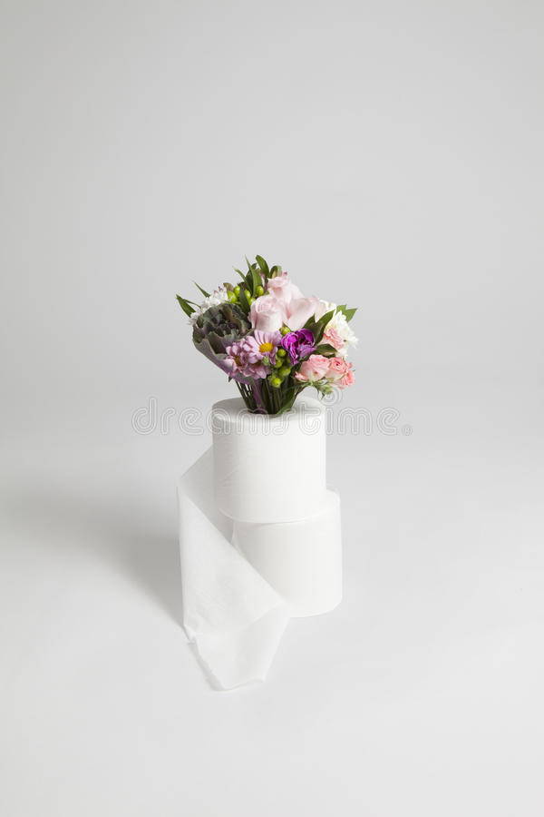 Download Flower Bouquet With Toilet Paper Stock Photo - Image: 83724134