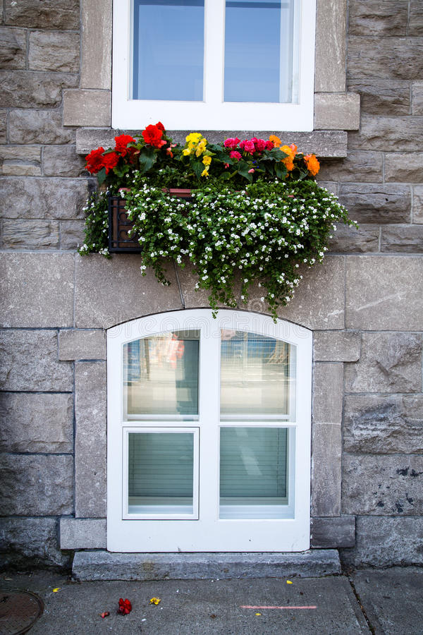 Download Flower Box Street Scene Of Old Quebec Stock Photo - Image: 32116936