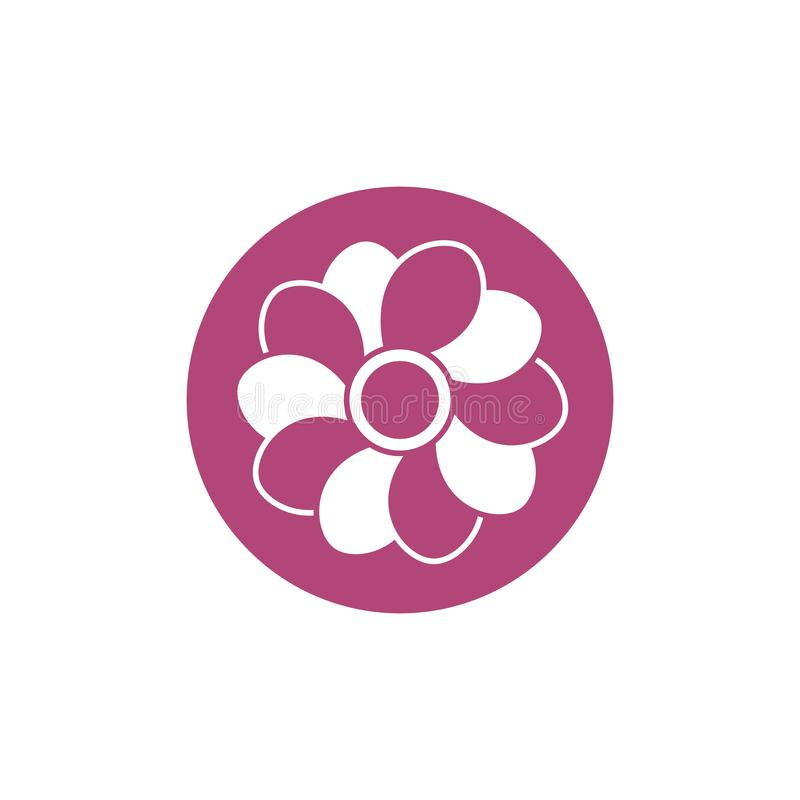 Flower breast cancer awareness icon. Flower breast cancer awareness block icon vector illustration vector illustration