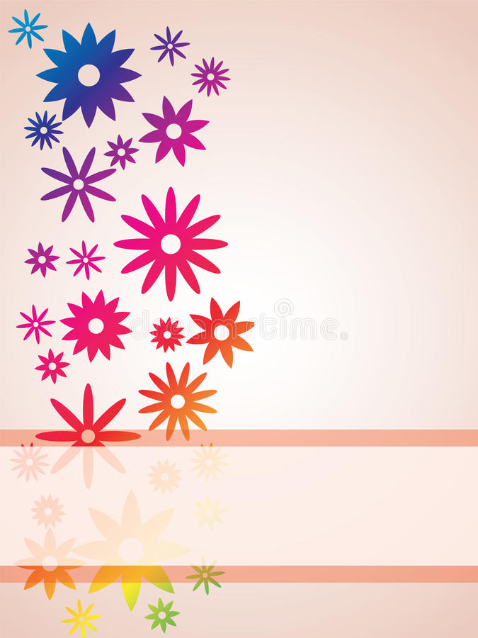 Flower brochure vector illustration