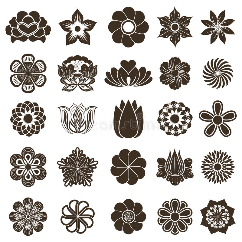 Flower buds design elements stock illustration