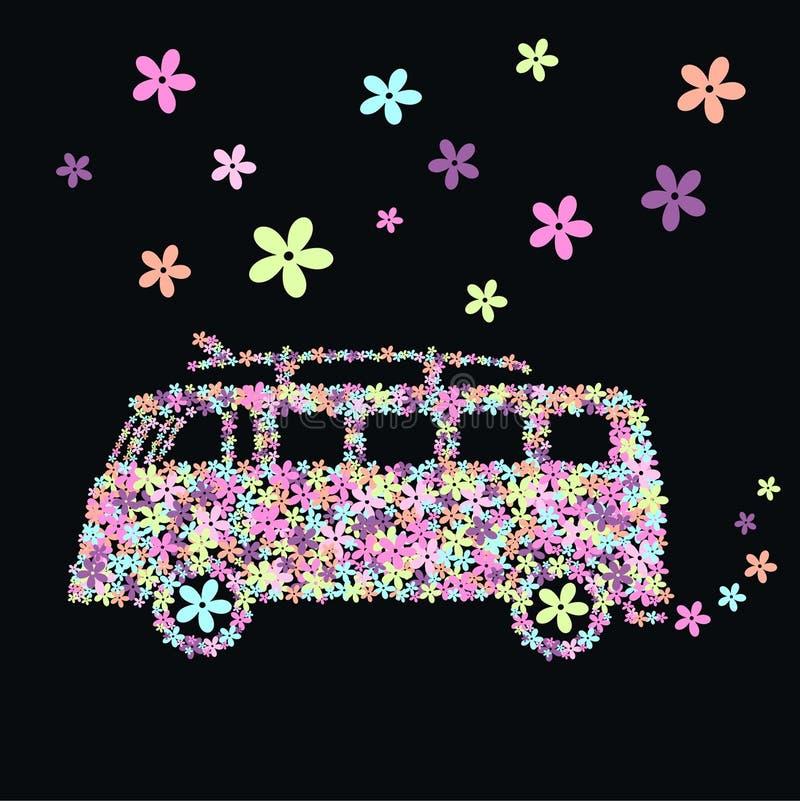 Flower Bus Royalty Free Stock Photos