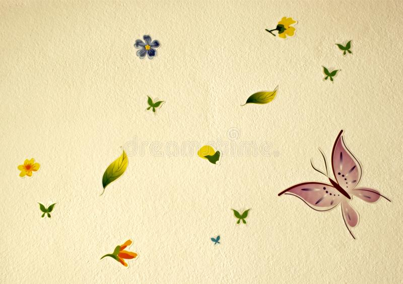 Download Flower And Buterflies Royalty Free Stock Photography - Image: 21173117