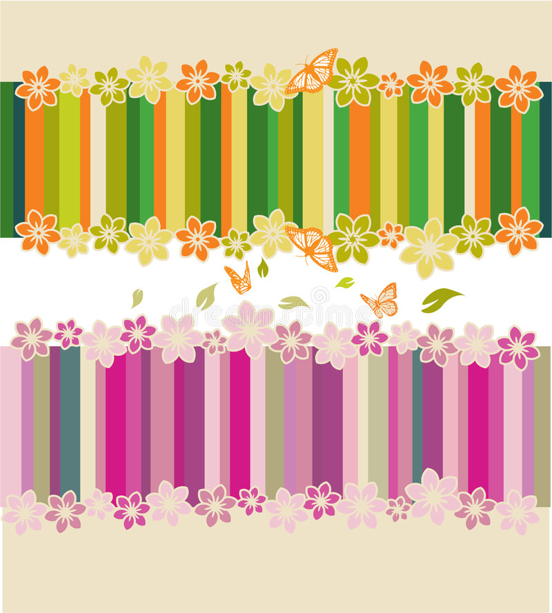 Download Flower and butterflies stock vector. Image of beautiful - 8112378