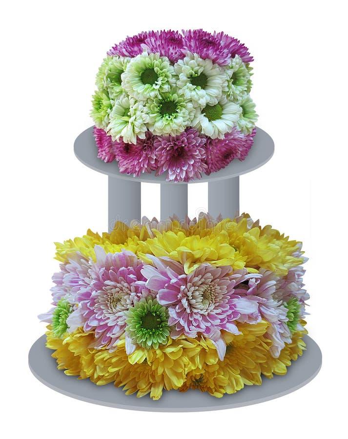 Flower Cake stock image Image of colorful chrysanthemum 45282781