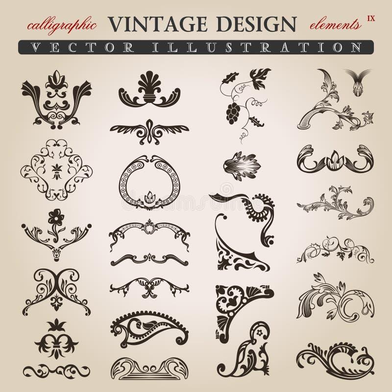 Download Flower Calligraphic Vintage Royal Design Elements Stock Photos - Image: 19104303