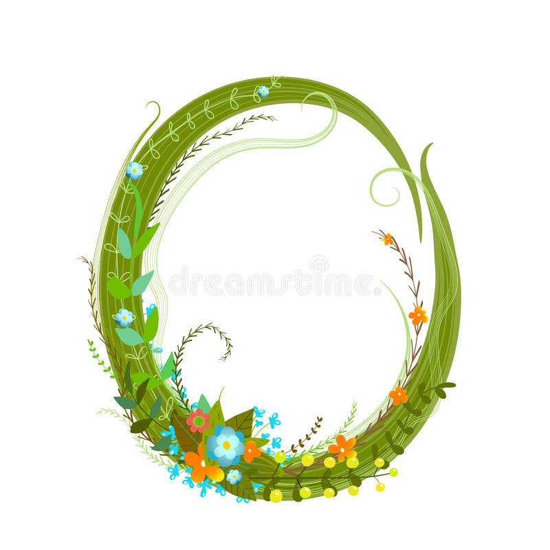 Download Flower Calligraphy Floral Elegant Decorative Alphabet Letter O Stock Vector