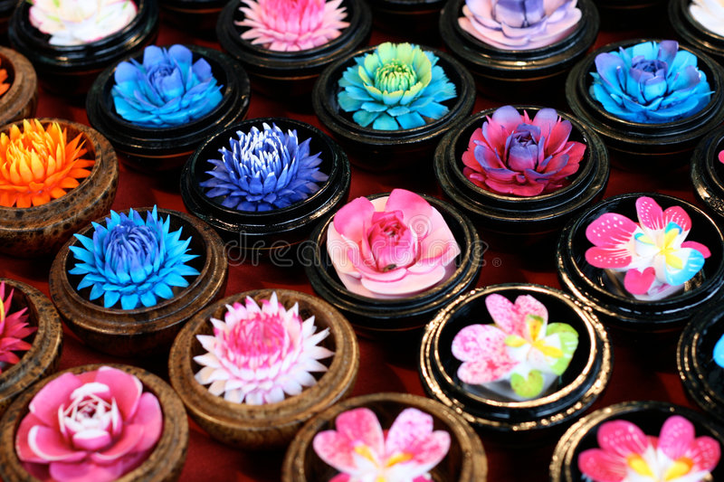 Flower candles stock photography