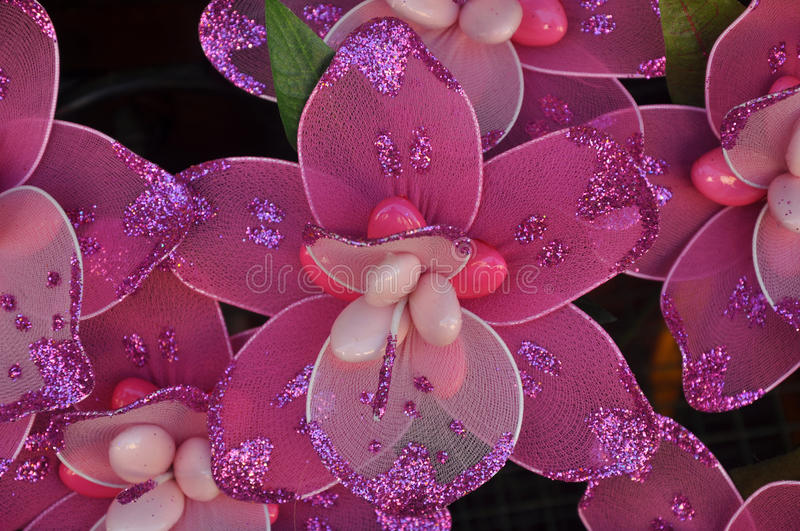 Flower candy. Italian beautiful and pink flower candy royalty free stock photos