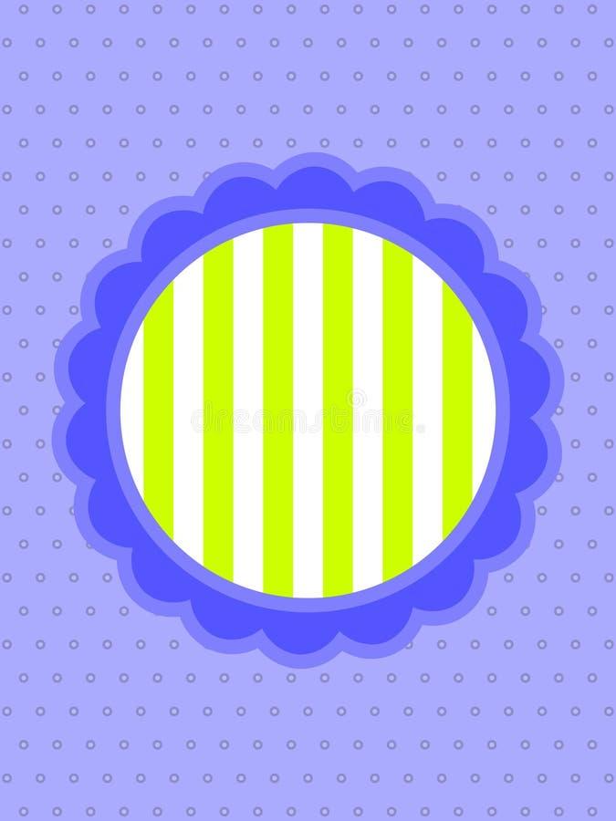 Download Flower Card stock vector. Illustration of retro, stripes - 23489019