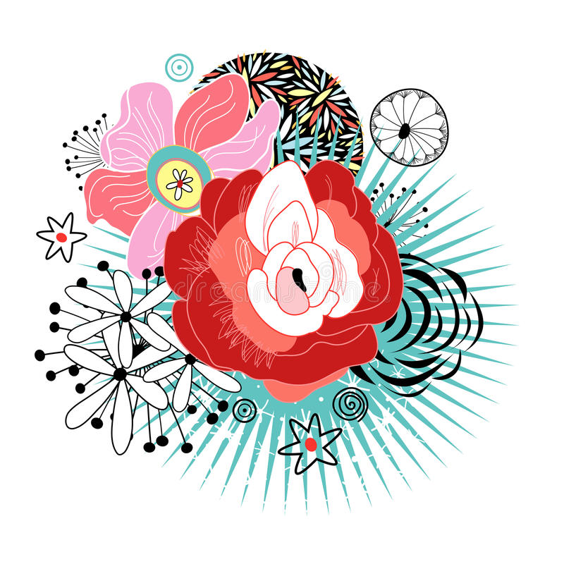 Download Flower Card stock vector. Illustration of nature, color - 25644270