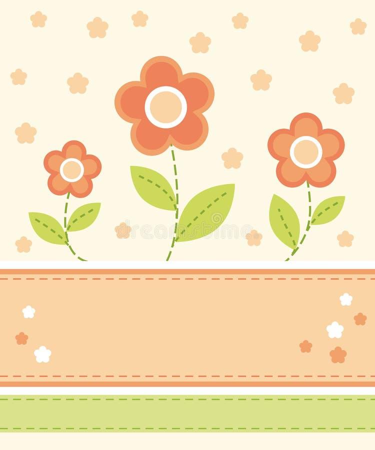 Download Flower card design stock vector. Image of floral, design - 8318816