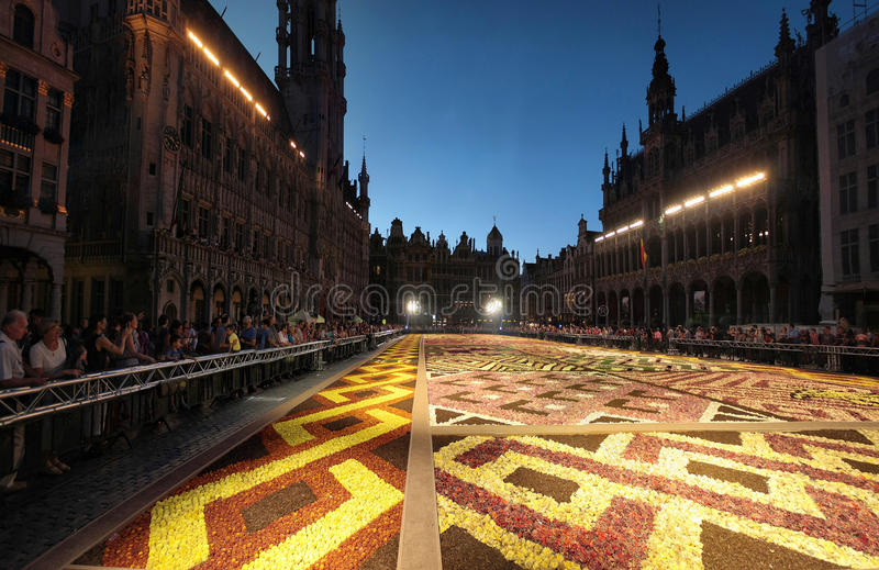 Flower carpet in Brussels, Belgium