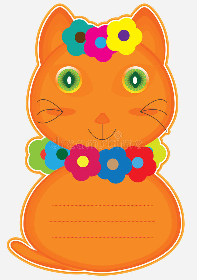 Flower Cat Card_eps