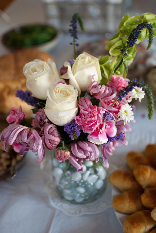 Flower centerpiece stock photography