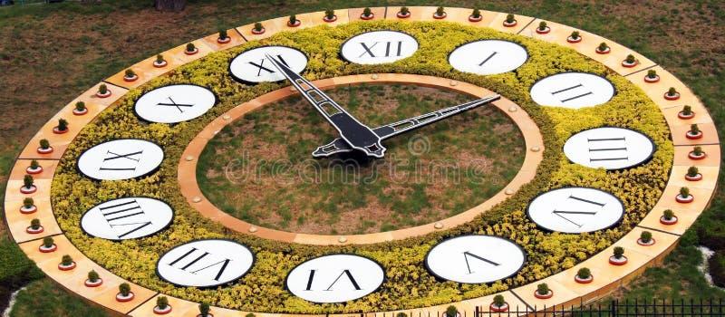 Flower Clock In Kiev Royalty Free Stock Photography