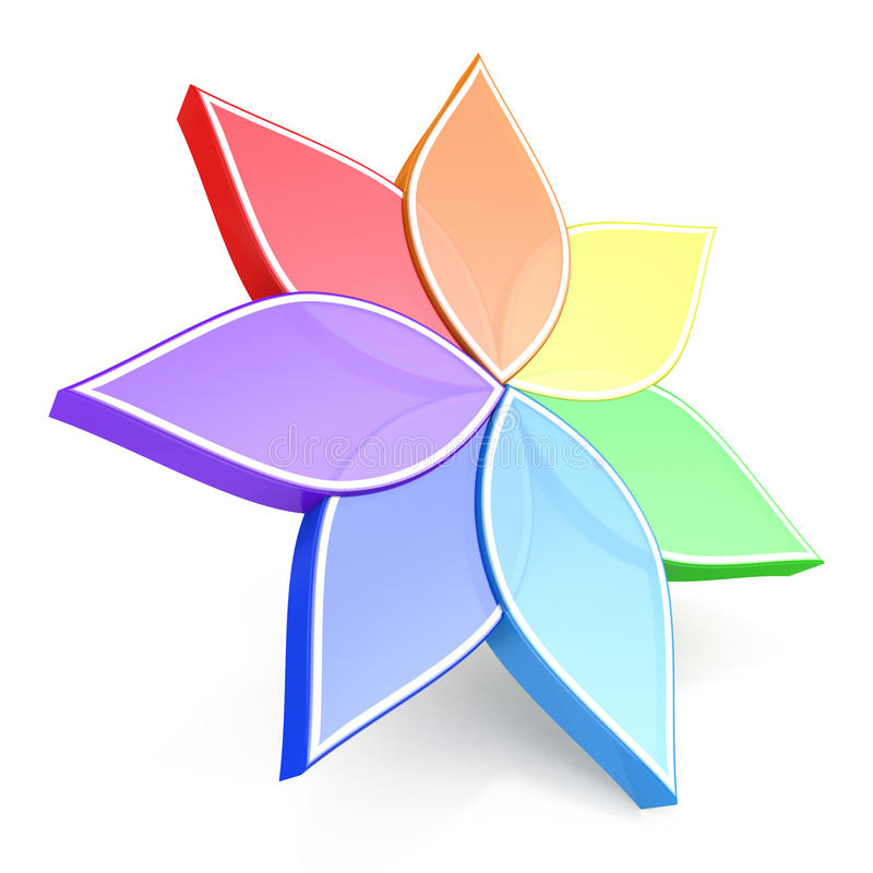 Download Flower Color Wheel 3D Stock Illustration Of Part