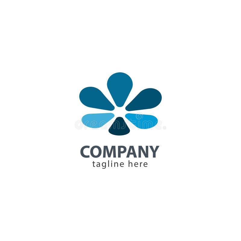 Flower Company商标传染媒介模板设计例证 库存例证