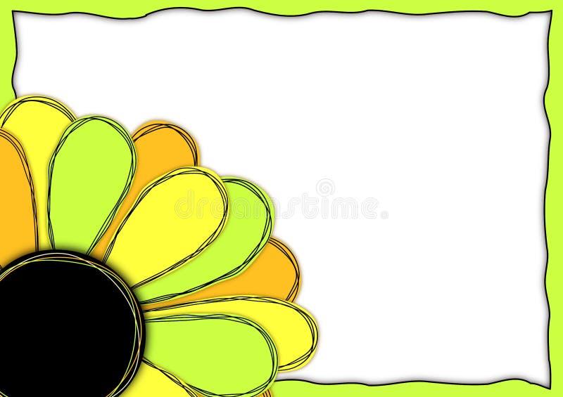 Flower Corner frame border royalty free illustration