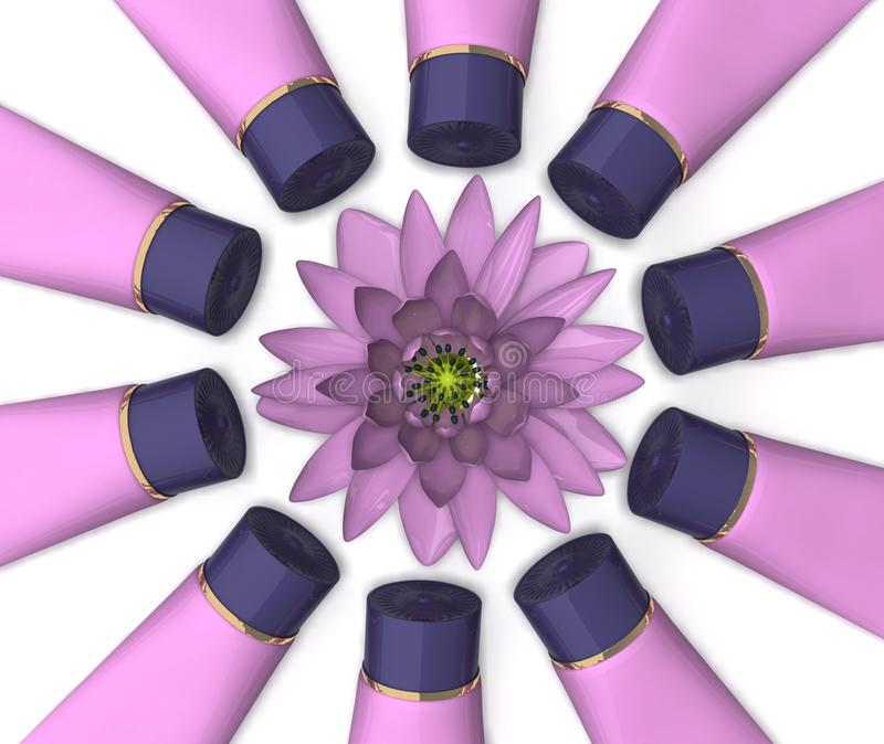 Flower And Cosmetics Royalty Free Stock Photo