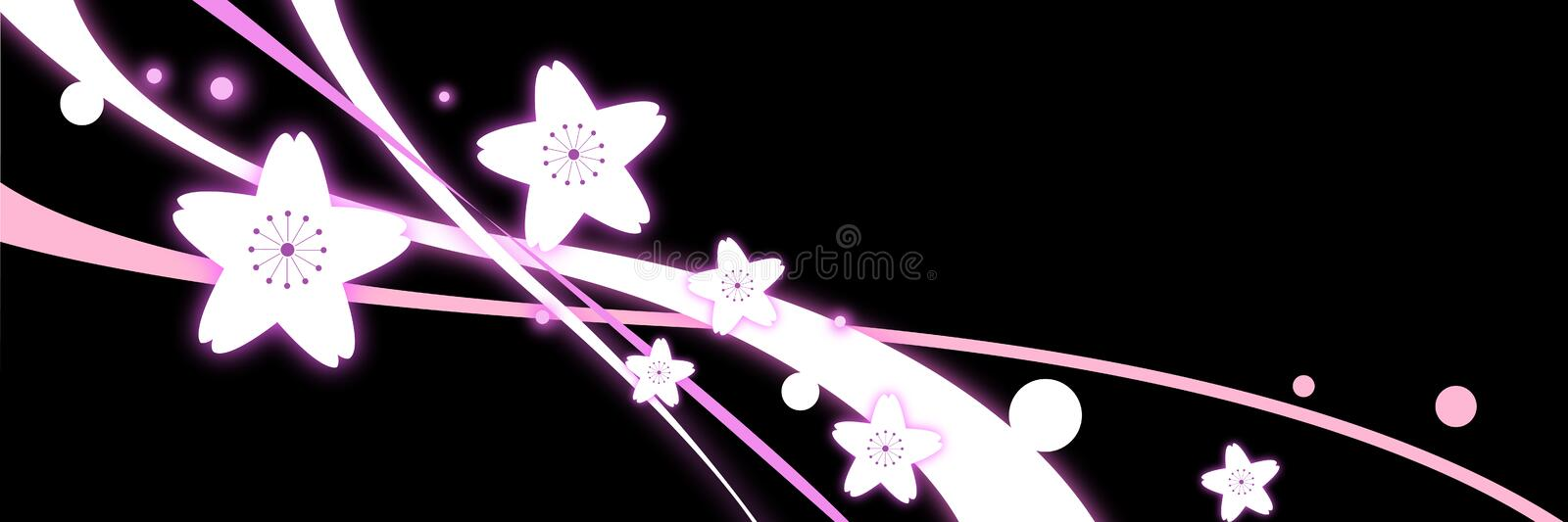 Download Flower and curve stock illustration. Image of background - 12211746