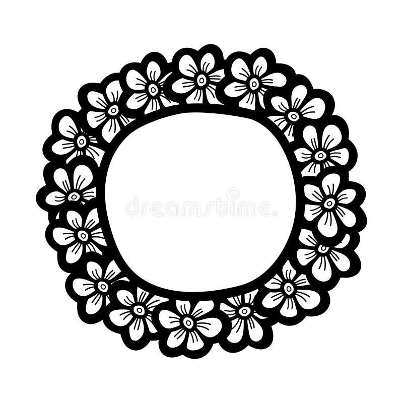 Download Flower Cute Frame. Beautiful Wedding Invitation. Stock Vector - Image: 83704324