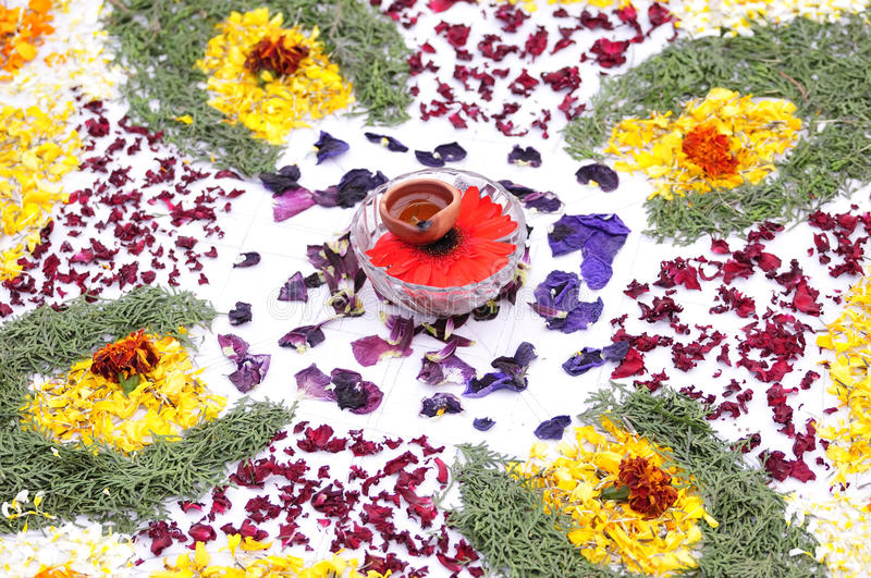 Download Flower decoration stock image. Image of colors, earthen - 13233199