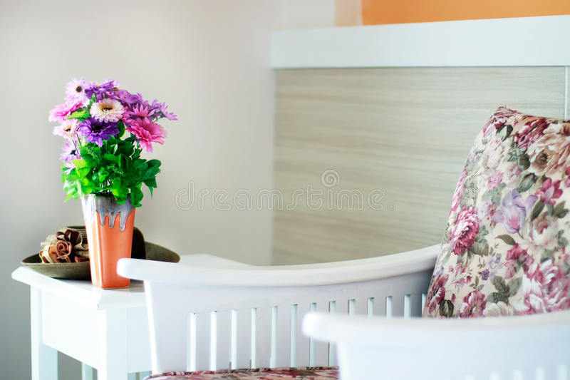 Download Flower Decoration In Light Living Room Stock Photo   Image:  59003302