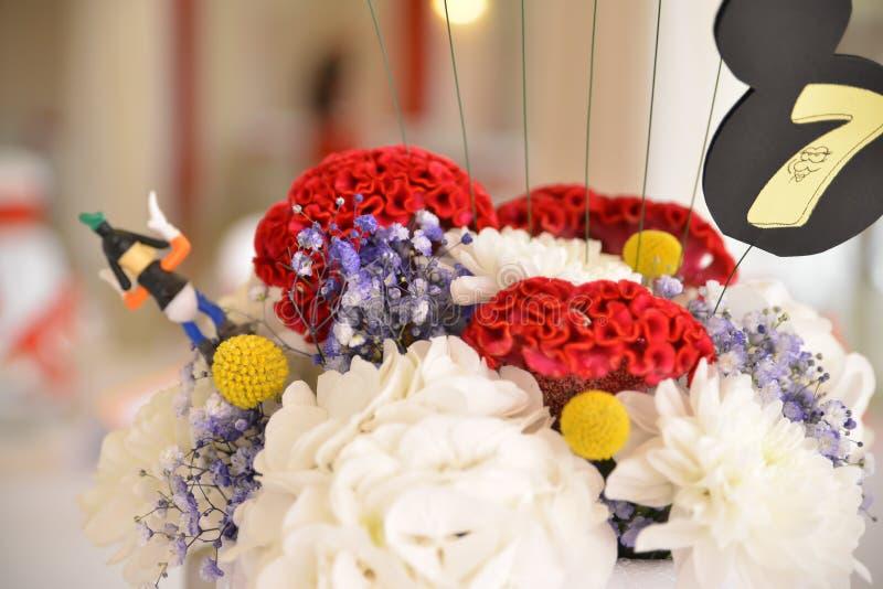 Flower decoration. wedding, birthday party royalty free stock photos