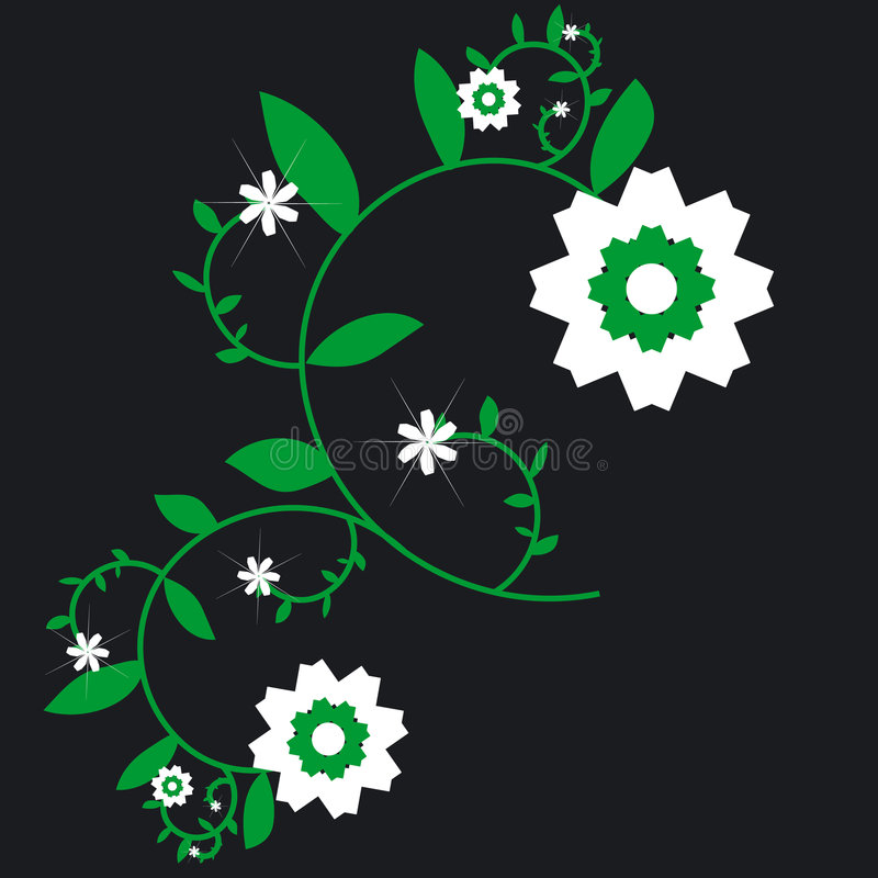 Flower design stock illustration