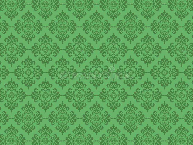 Flower Design Green Background