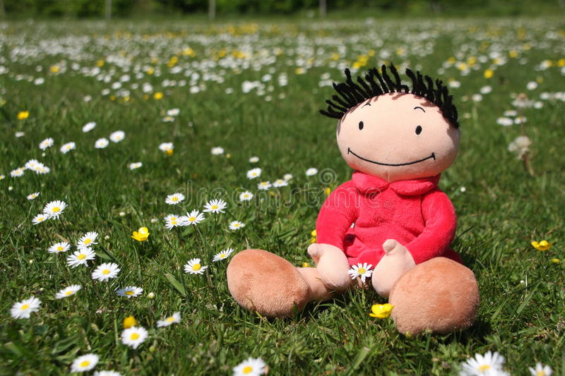 Download Flower doll stock image. Image of cute, bliss, girl, content - 15707485