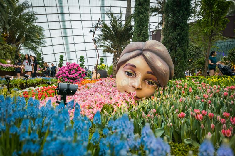 Flower dome at Garden By The Bay, Singapore. stock photography