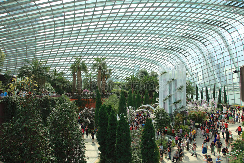 Flower Dome,Gardens by the Bay. stock images