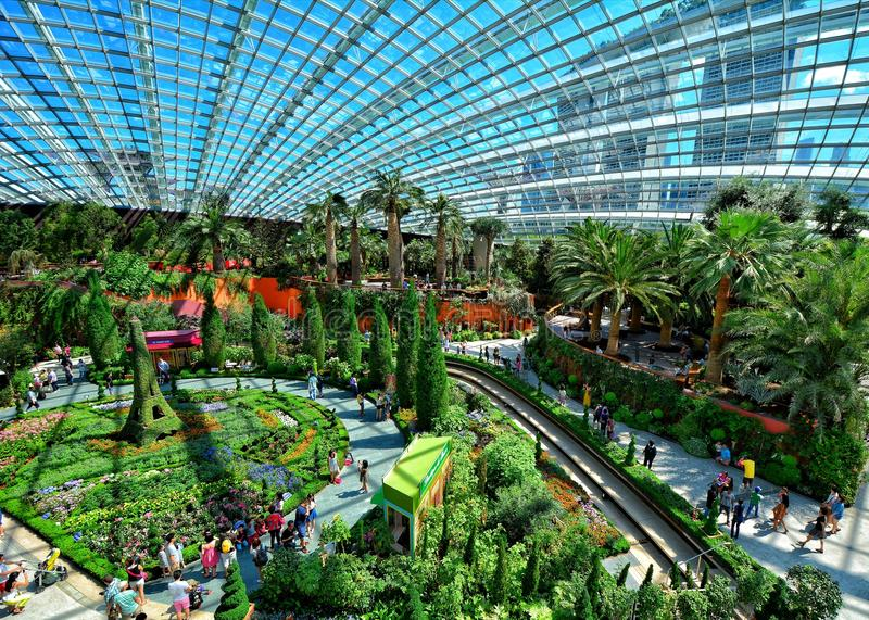 Flower Dome, Gardens by the Bay, Singapore stock photos