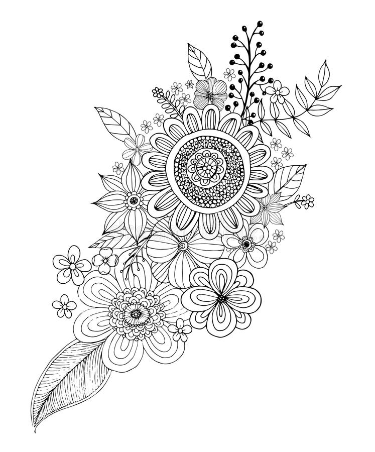 Flower Doodle Drawing Freehand Stock Illustrations 6 273 Flower Doodle Drawing Freehand Stock Illustrations Vectors Clipart Dreamstime