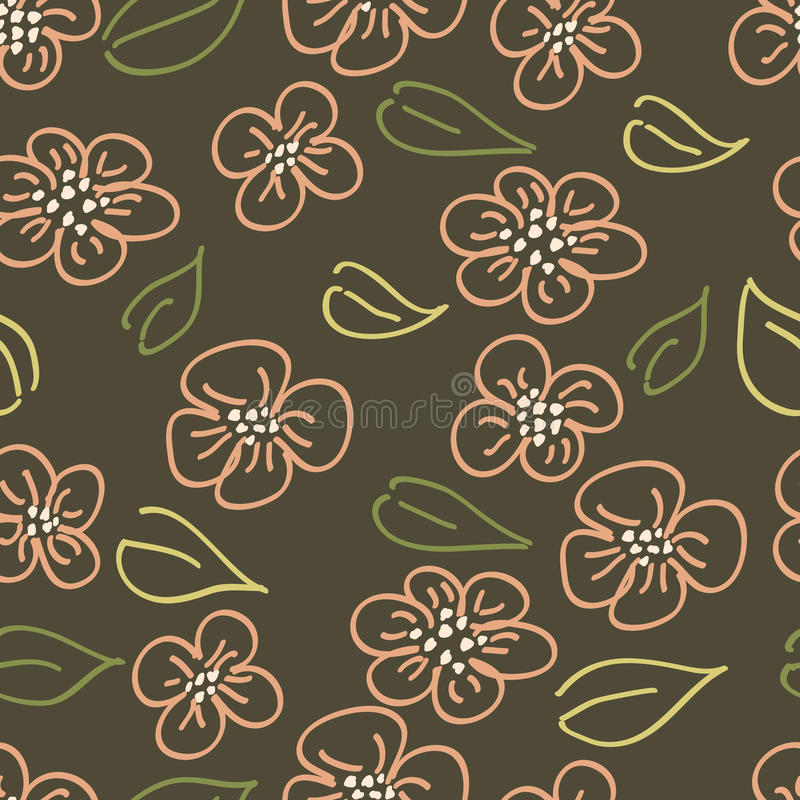 Download Flower doodle pattern stock vector. Illustration of daisy - 10001741