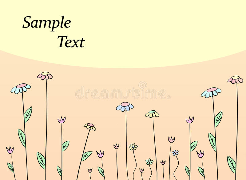 Flower drawing background royalty free illustration