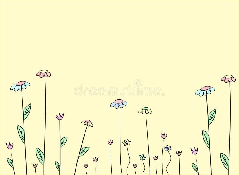Flower drawing background stock illustration