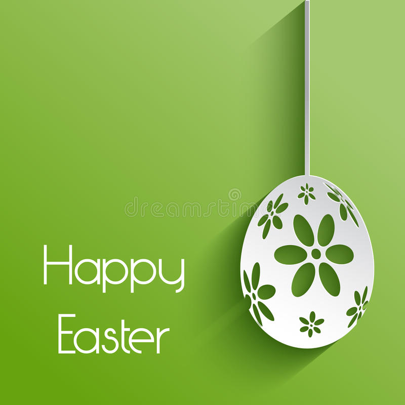 Flower easter egg background stock illustration