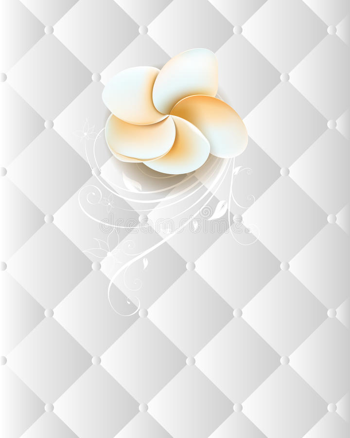 Flower On An Elegant Seamless Chrome Background Stock Images
