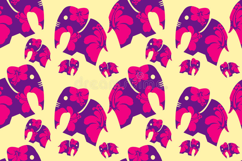 The flower in elephants and background. vector design. royalty free stock images