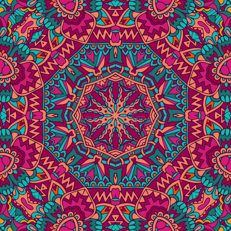 Free Flower Ethnic Seamless Design. Stock Images - 125291184
