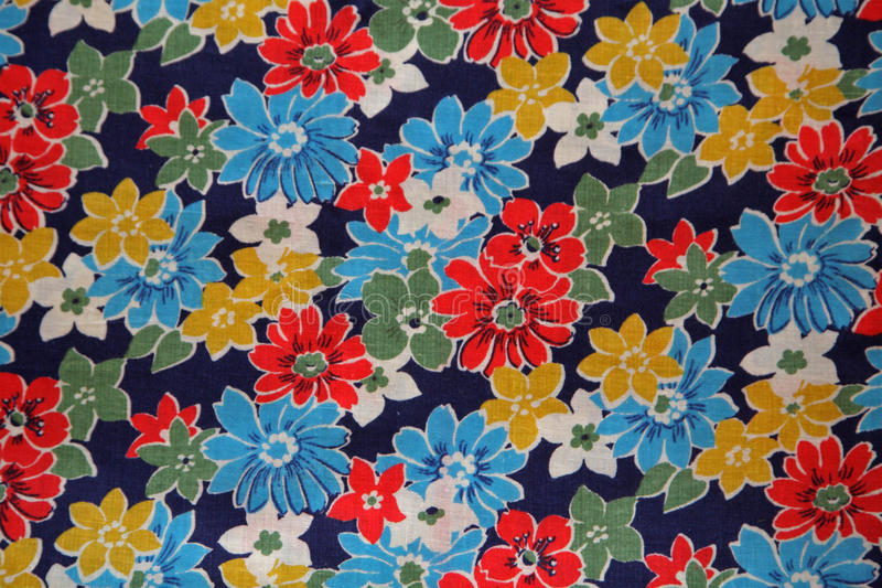 Flower fabric texture royalty free stock photography